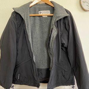 Columbia Fleece Lined Black Coat